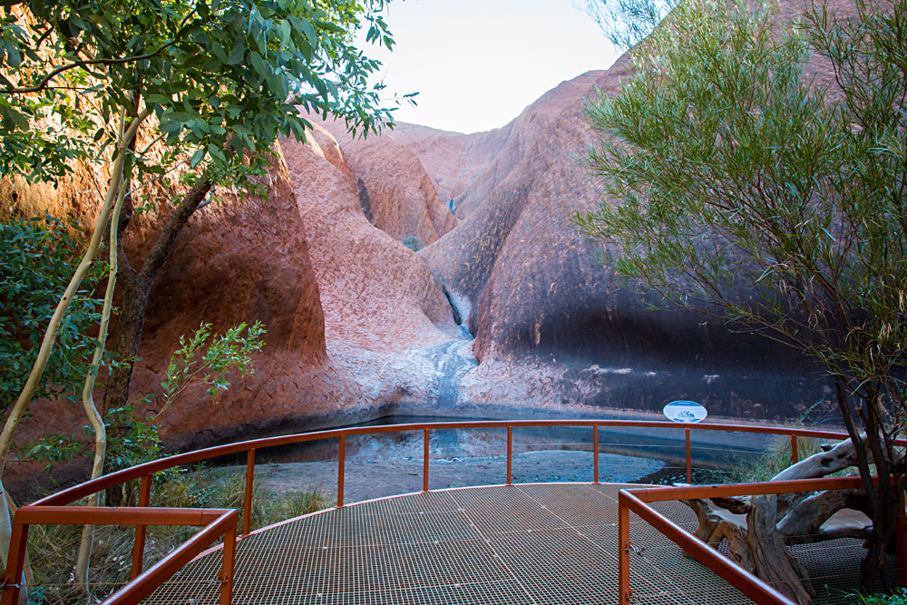 Mutitjulu Waterhole on the Kuniya Walk at Uluru, Northern Territory, Australia