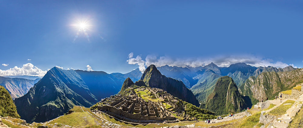 Panorama of Machu Picchu, Peru, South America