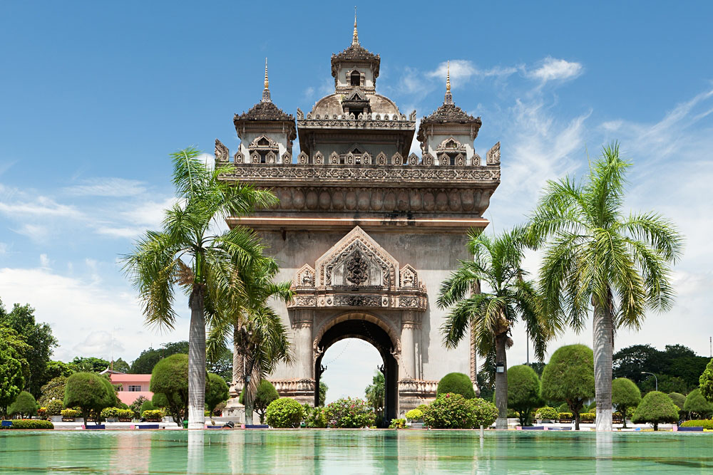 Patuxai in Vientiane, Laos