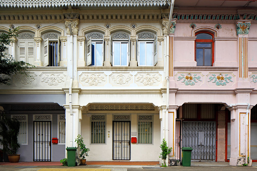 Peranakan Chinese Shop Houses in Singapore