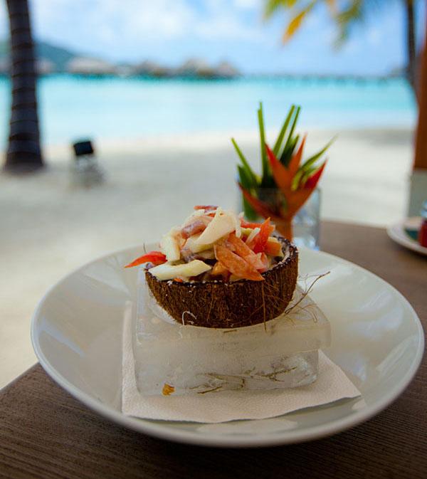 Poisson Cru in Tahiti Resort, French Polynesia