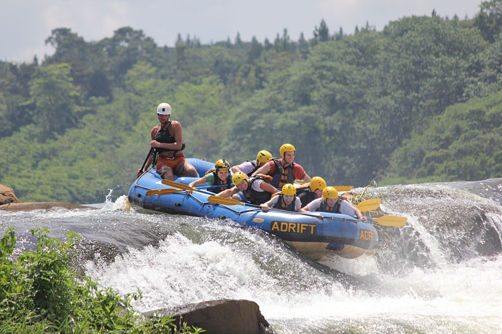 Rafting the Nile River, Uganda