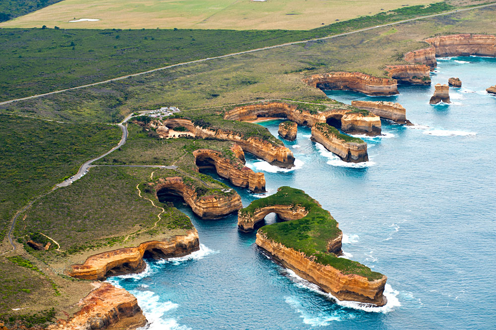 Twelve Apostles Aerial View, Great Ocean Road, Victoria, Australia