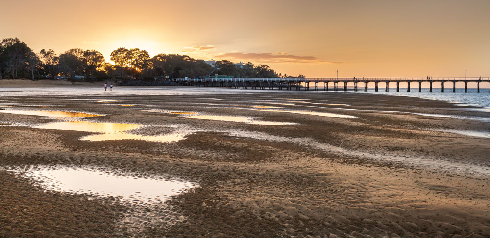 Uranga Pier at Hervey Bay, Queensland, Australia