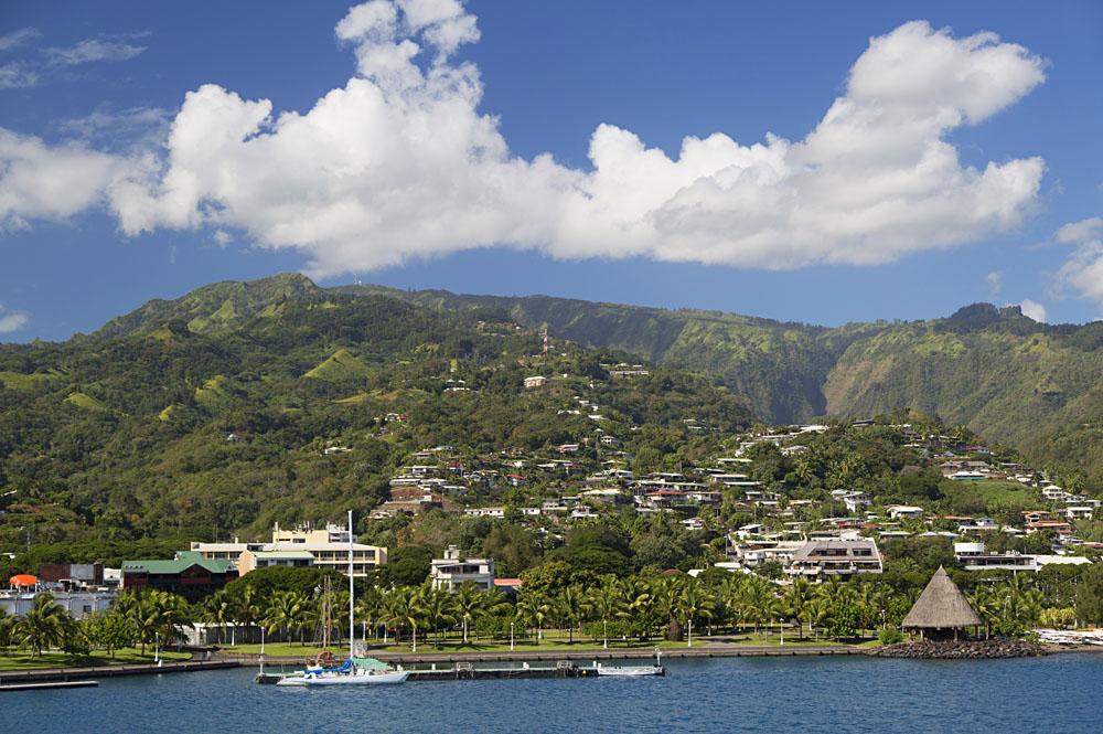 View of Papeete, Tahiti, French Polynesia