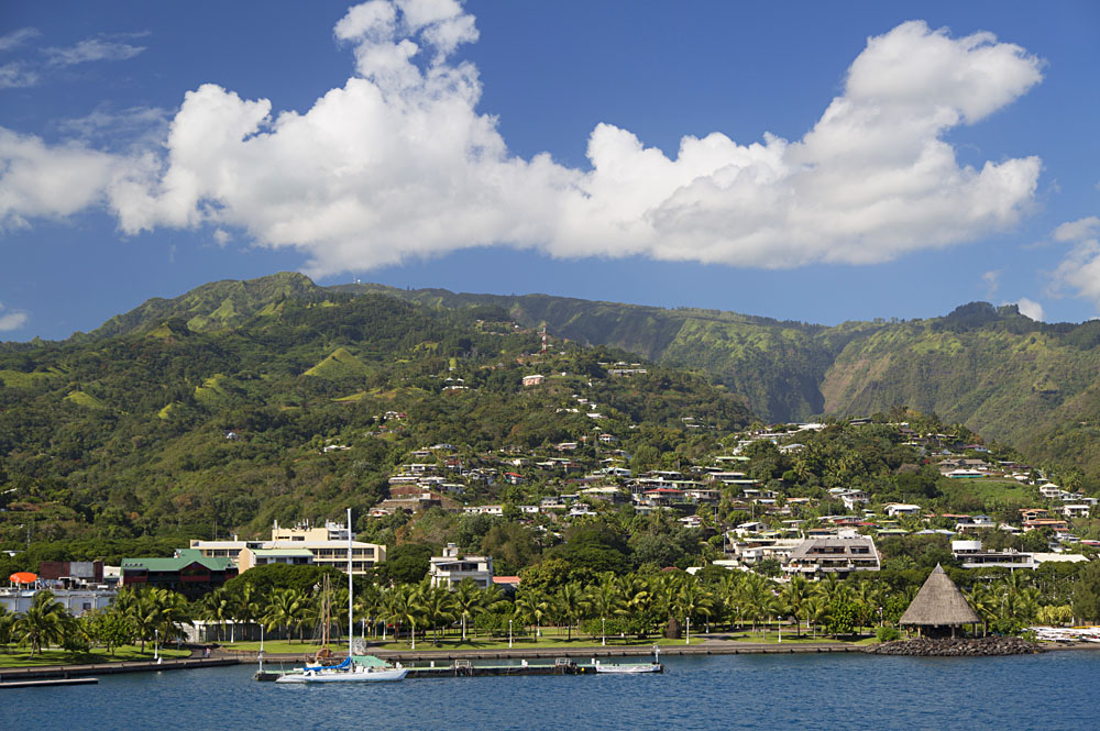 View of Papeete, Tahiti, French Polynesia