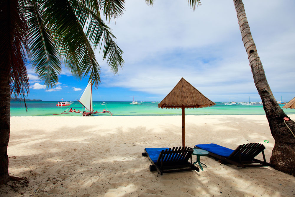 Beach in Boracay, Philippines