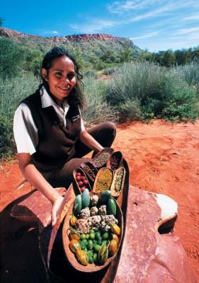 Bush tucker display at Alice Springs Desert Park, Northern Territory, Australia