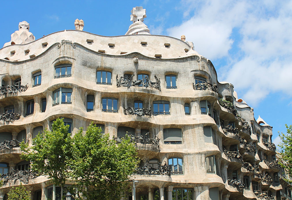 Casa Mila or La Padrera in Barcelona, Spain