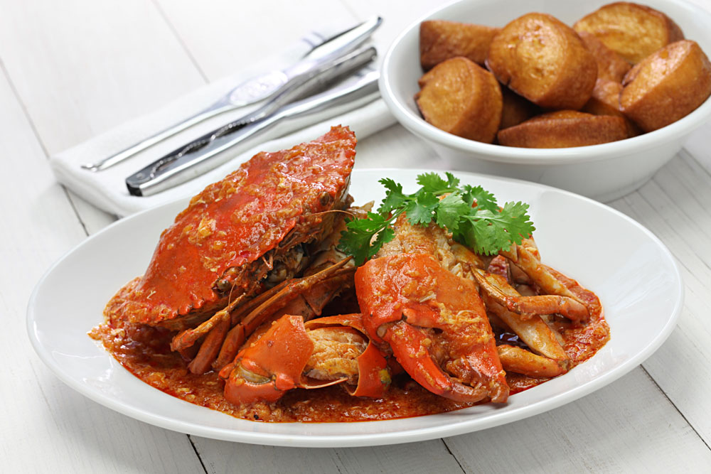 Chilli Crab with Fried Mantou, Singapore