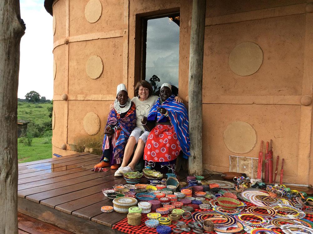 Claire at the Gift Shop at Ngorongoro Crater Lodge, Tanzania