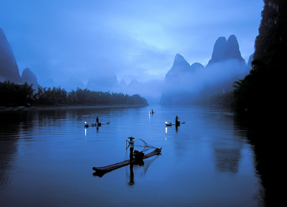 Cormorant Fishman, Li River, China