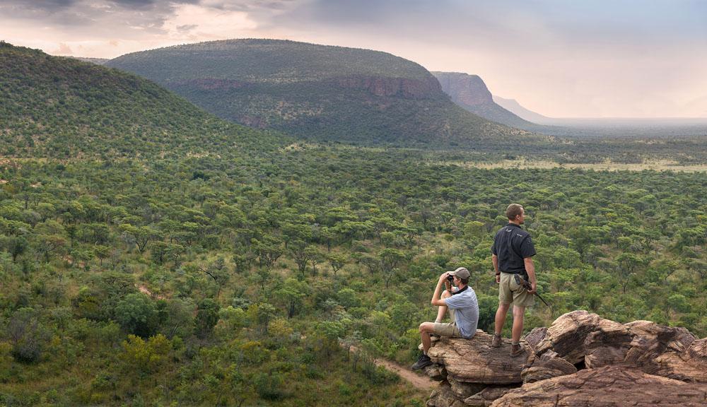 Couple at Marataba Walking Trails, Marakele Reserve, South Africa