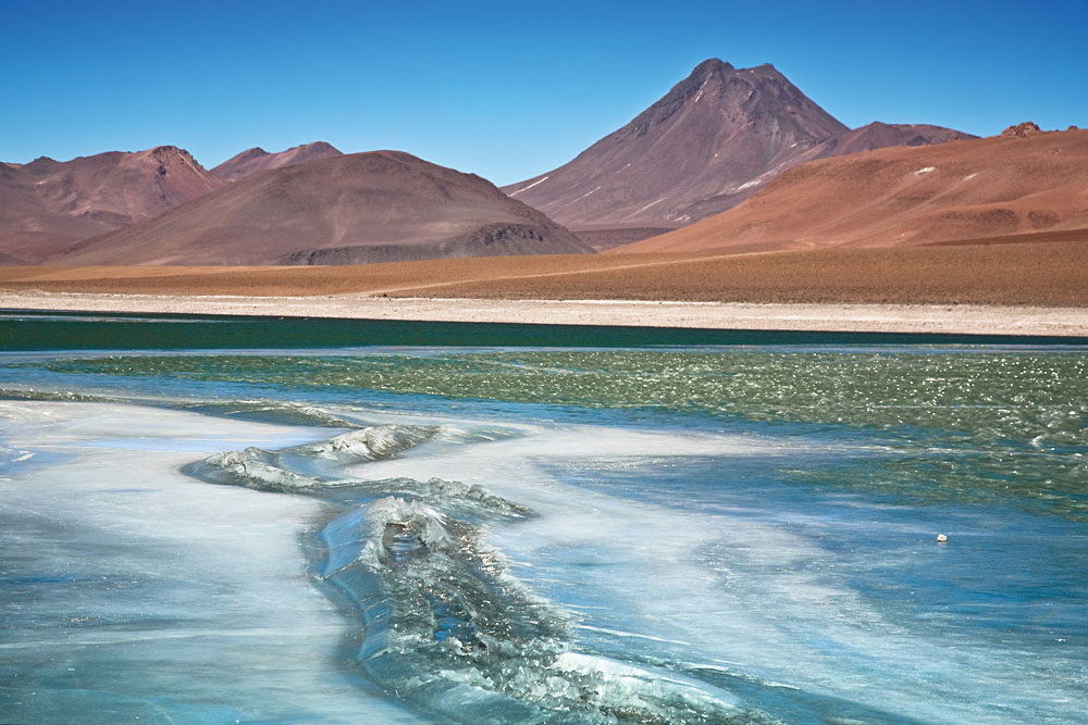 Diamond Lagoon in the Atacama Desert, Chile