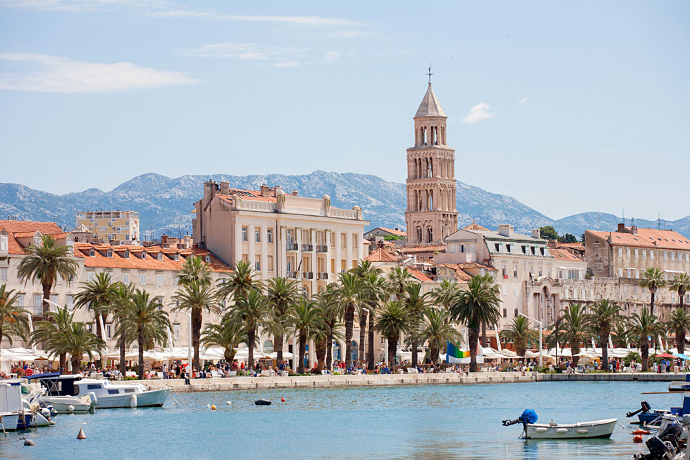 Diocletian Palace and Cathedral of St Domnius, Split, Croatia