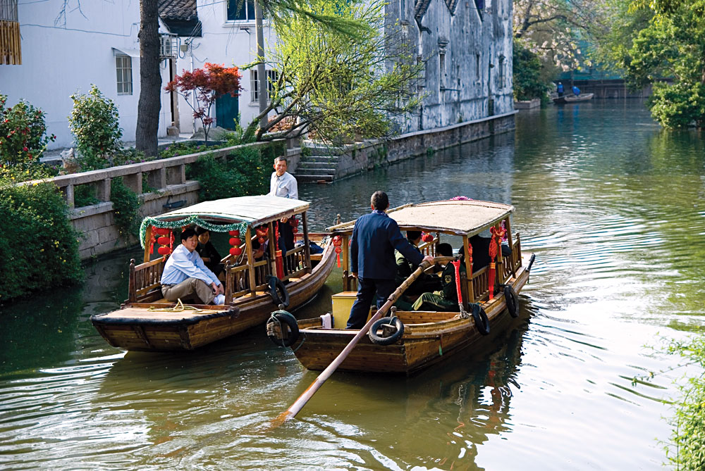 Gondolas in Suzhou, China