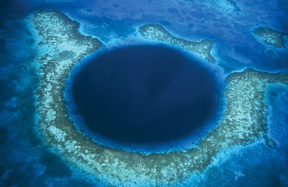 Great Blue Hole Aerial View, Belize