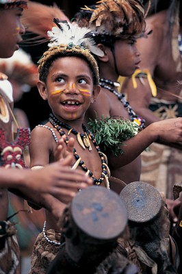 Little drummer boy, Papua New Guinea