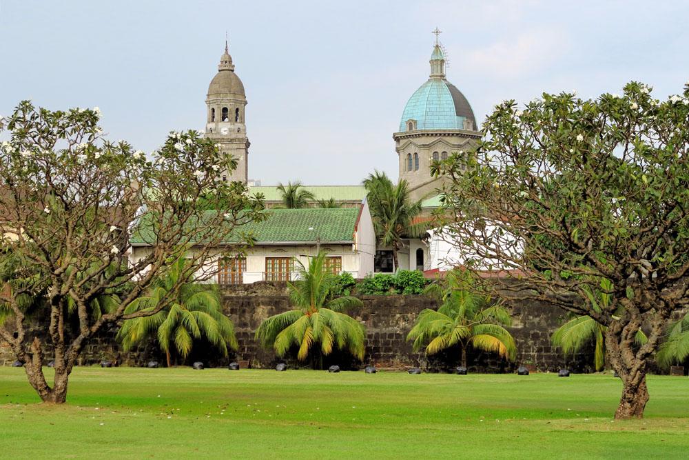 Manila Cathedral in Intramuros, Manila, Philippines