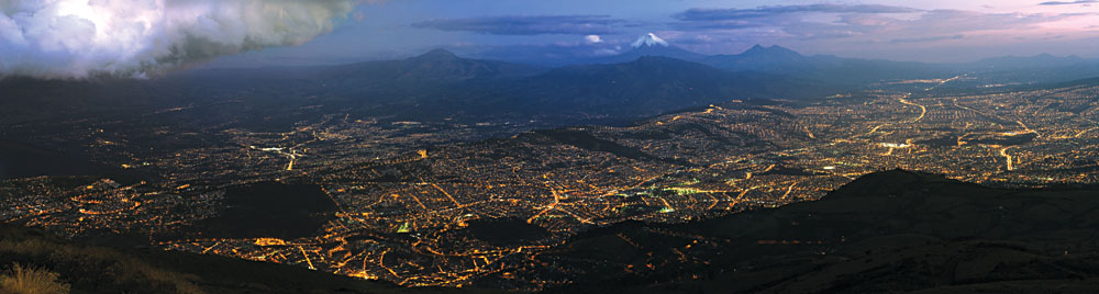 Quito at Night Panoramic, Ecuador