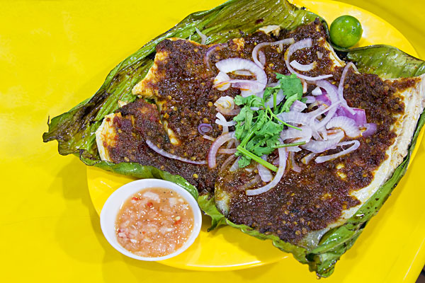 Stingray Fish with Sambal Chili Paste Sauce, Singapore