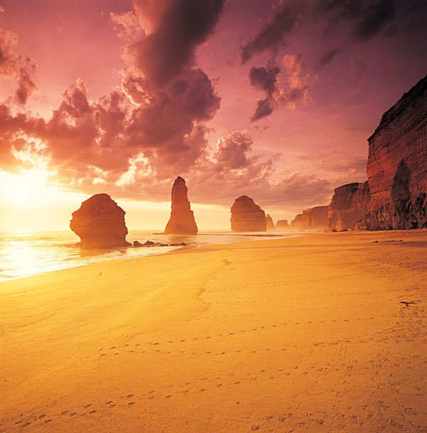 Twelve Apostles at Sunset, Victoria, Australia