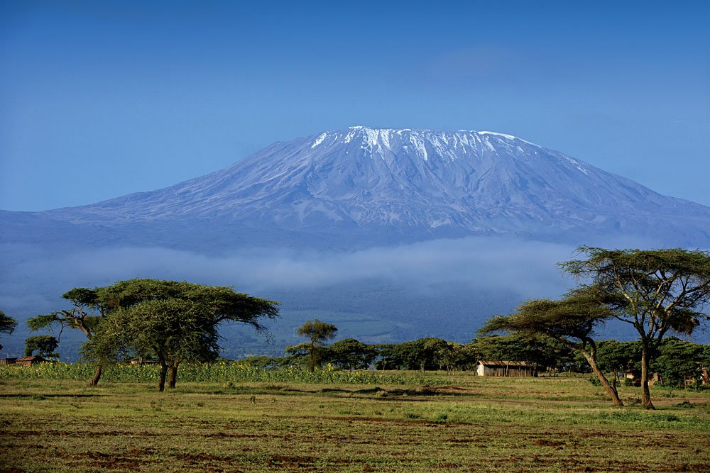 View of Mt Kilimanjaro from Amboseli, Kenya