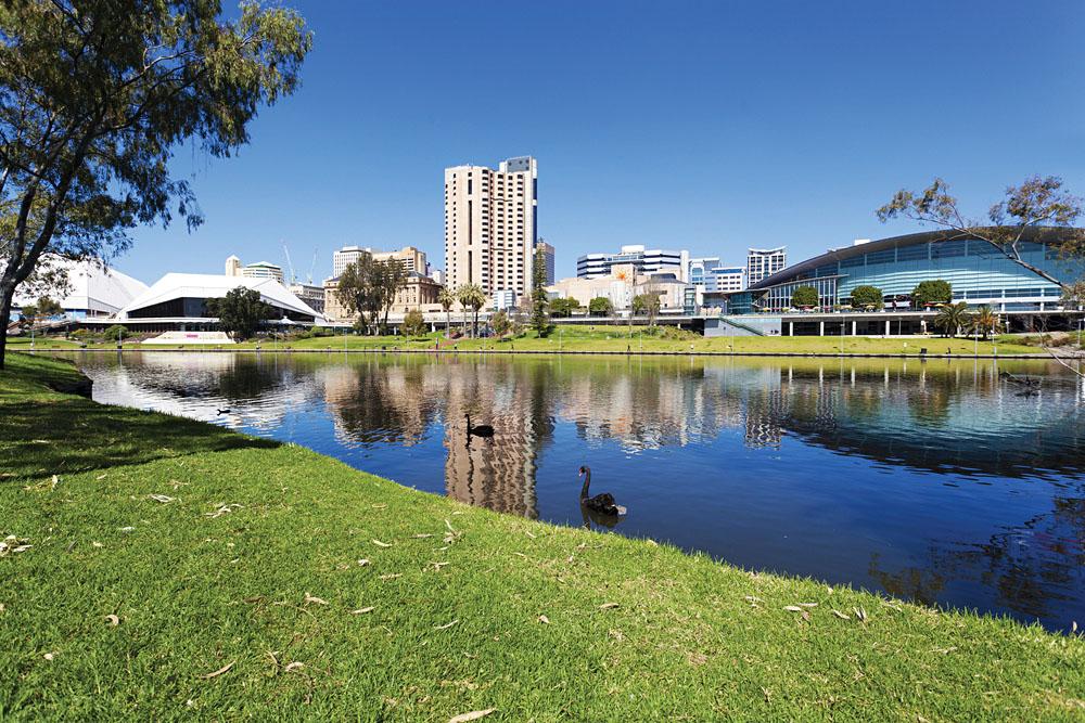 View of the Riverbank Precinct in Adelaide, South Australia, Australia