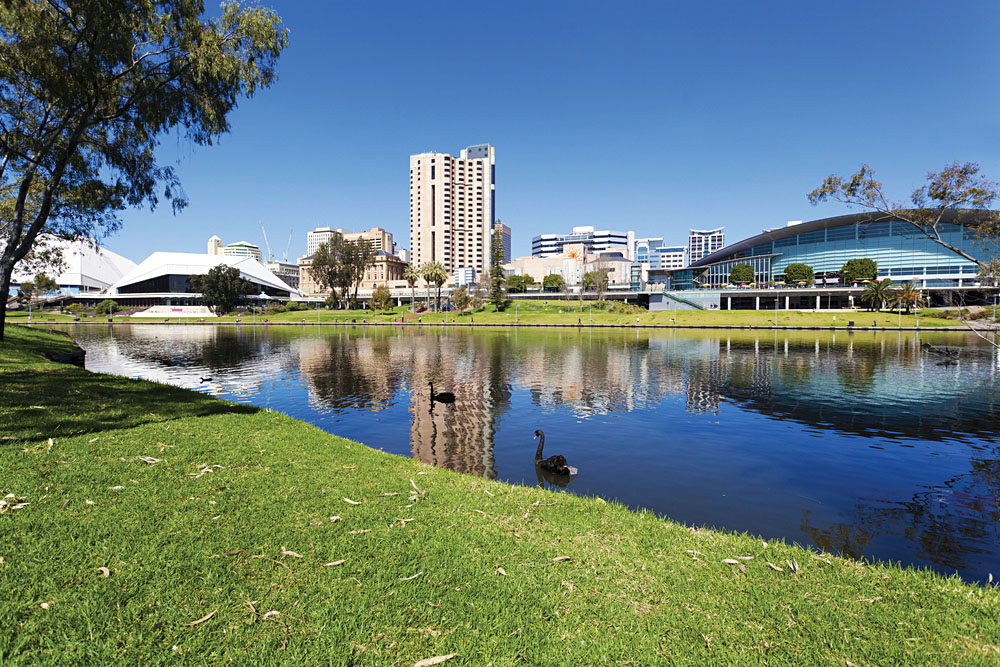 View of the Riverbank Precinct in Adelaide, South Australia, Australia