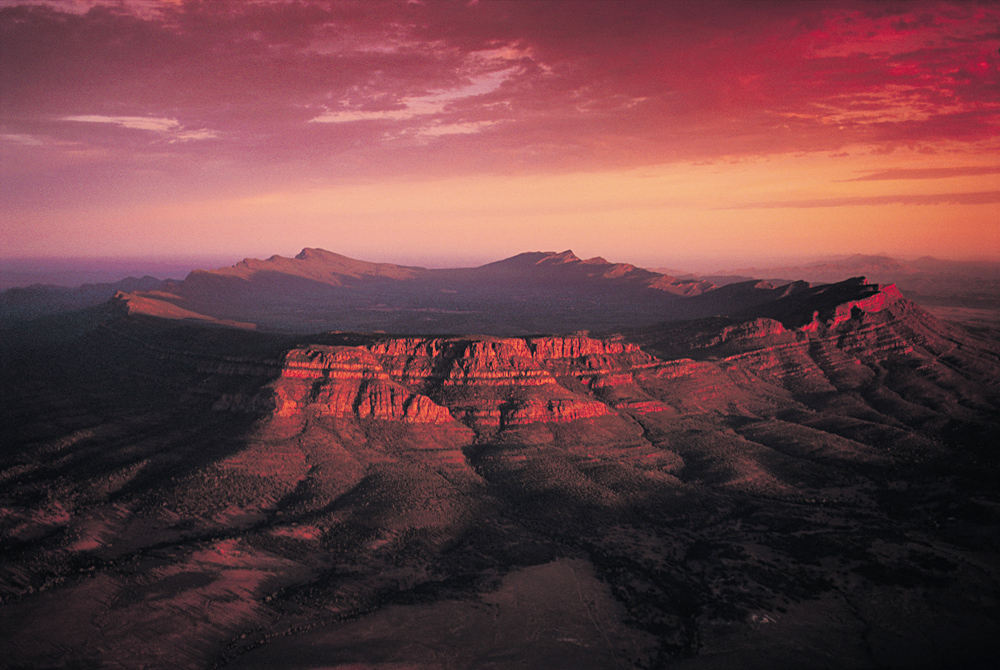 Wilpena Pound at Sunset, Flinders Ranges National Park, South Australia