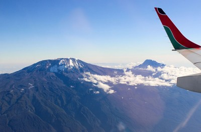 Aerial View of Mount Kilimanjaro, Tanzania