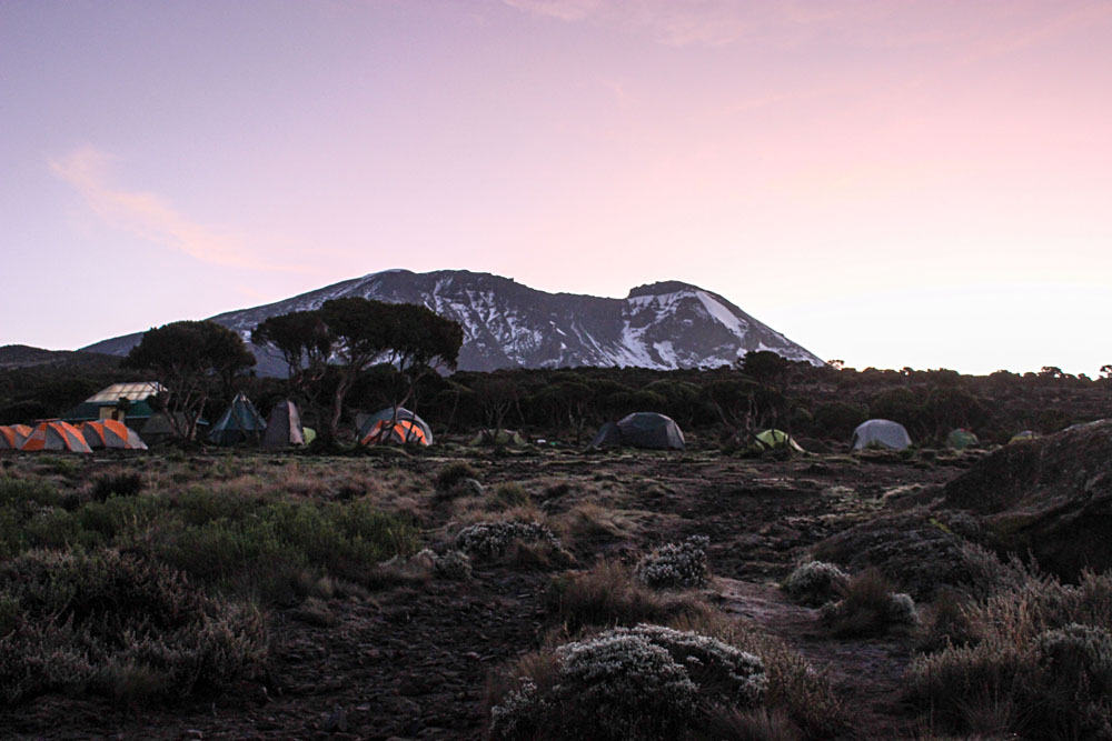 Beautiful Scenery at Camp, Mount Kilimanjaro, Tanzania