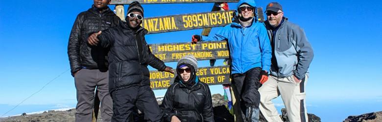 Reaching the Summit of Mount Kilimanjaro, Tanzania