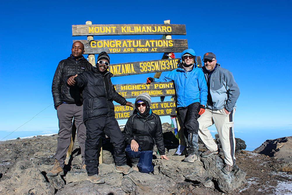 Reaching the Summit of Mount Kilimanjaro, Tanzania