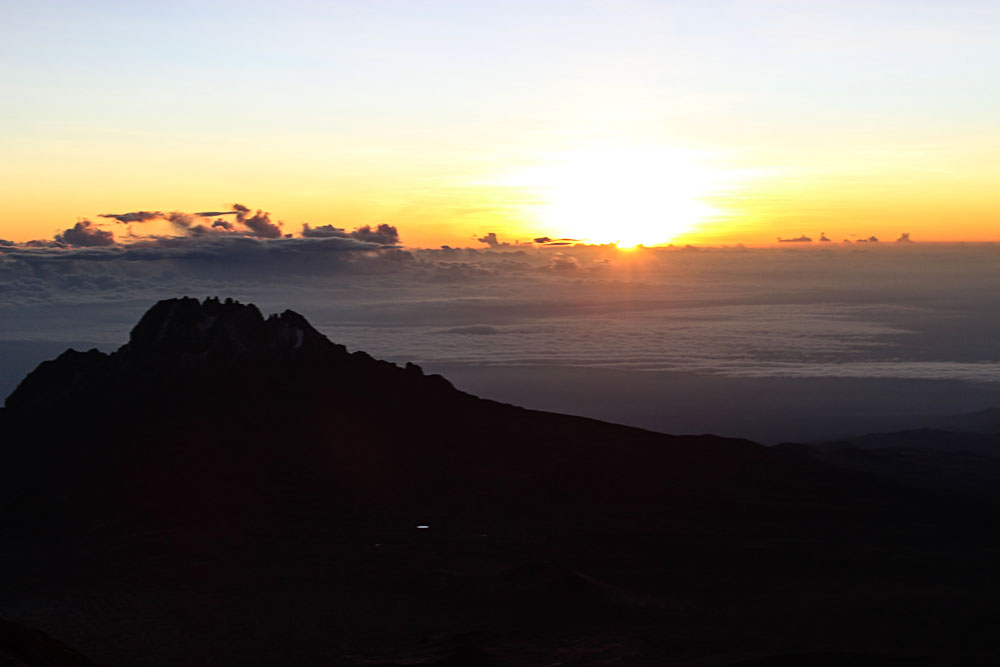 Sunrise Close to the Mount Kilimanjaro Summit, Tanzania