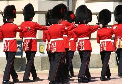 Changing of the Guard at Buckingham Palace, London, England