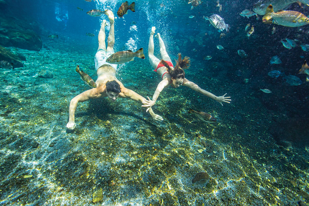 Couple Diving in Samoa
