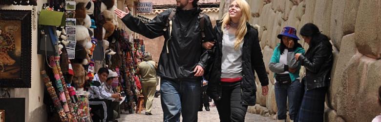 Couple Shopping in Cusco, Peru