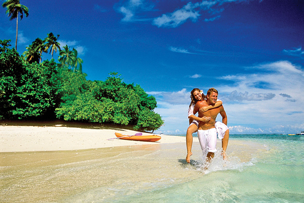 Couple on a Beach in Samoa
