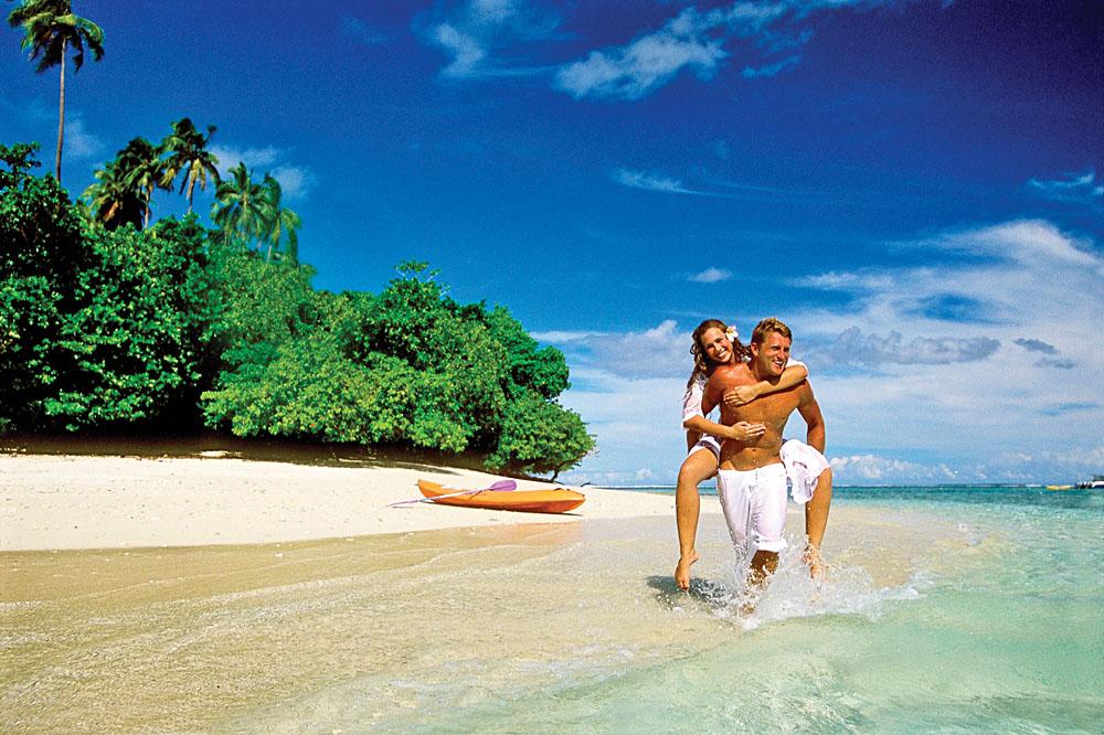 Couple on a Beach in Samoa