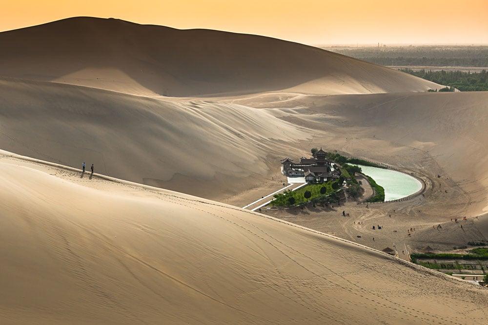 Crescent Lake in Dunhuang, Gobi Desert, China