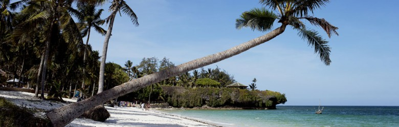 Diani Beach in Mombasa, Kenya