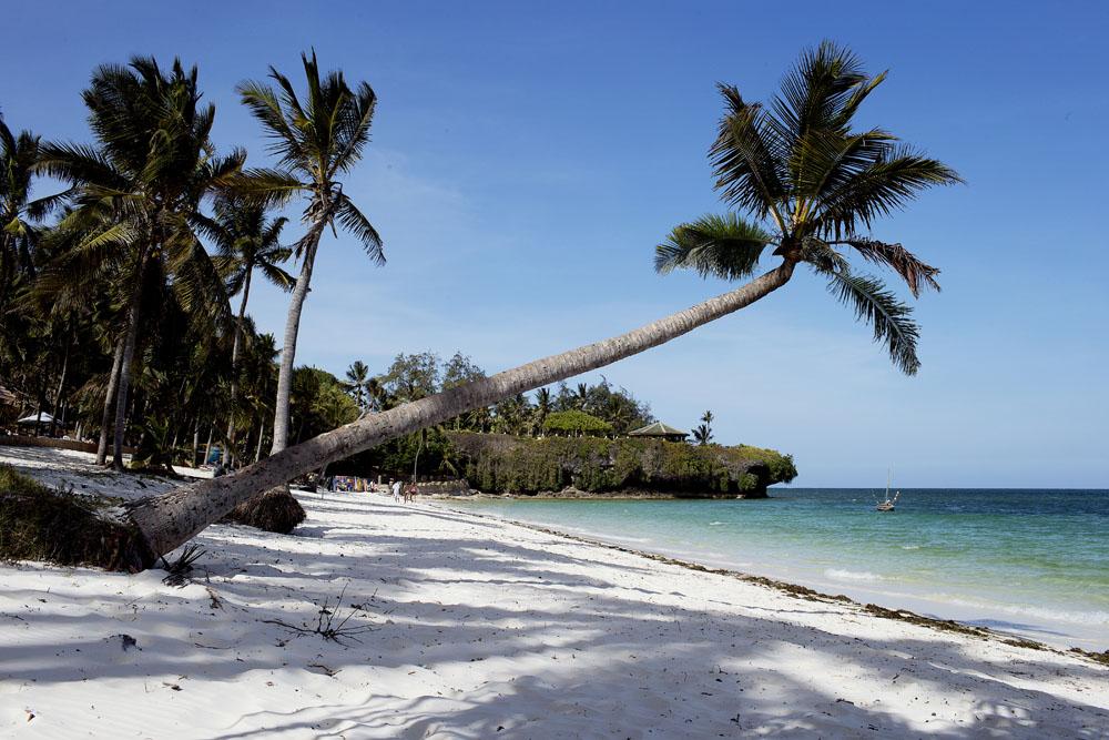 Diani Beach in Mombasa, Kenya