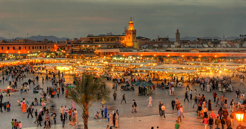 Djemaa El-Fna Square in Marrakesh, Morocco