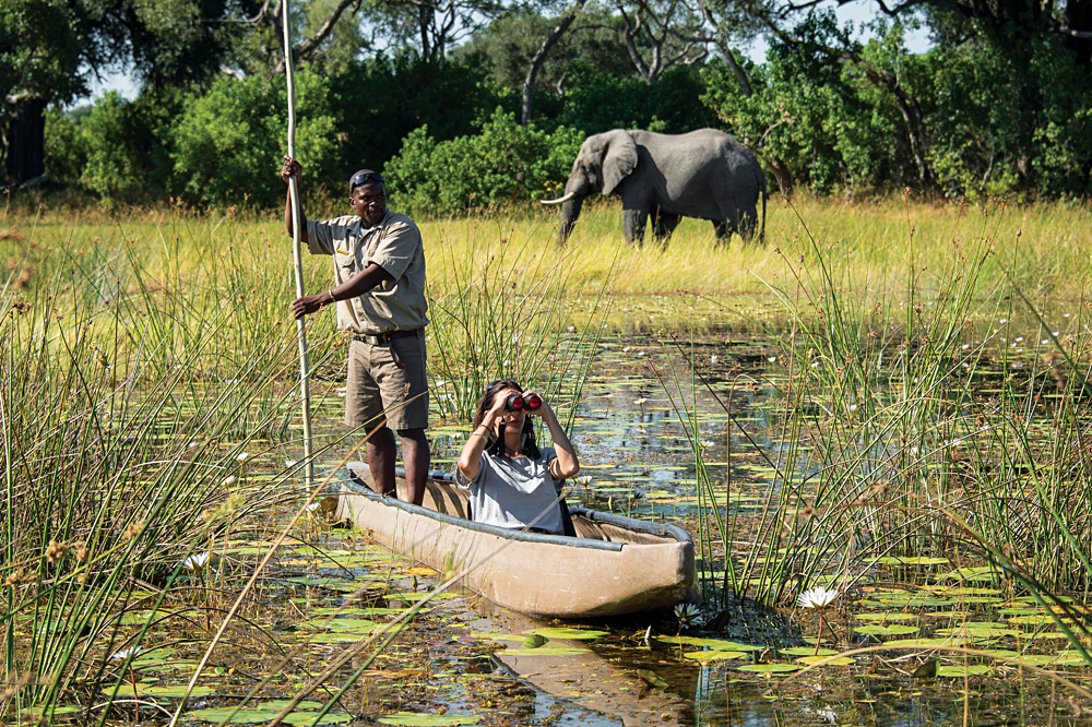 Exploring the Okavango by Mokoro, Botswana - photo credit Dana Allen