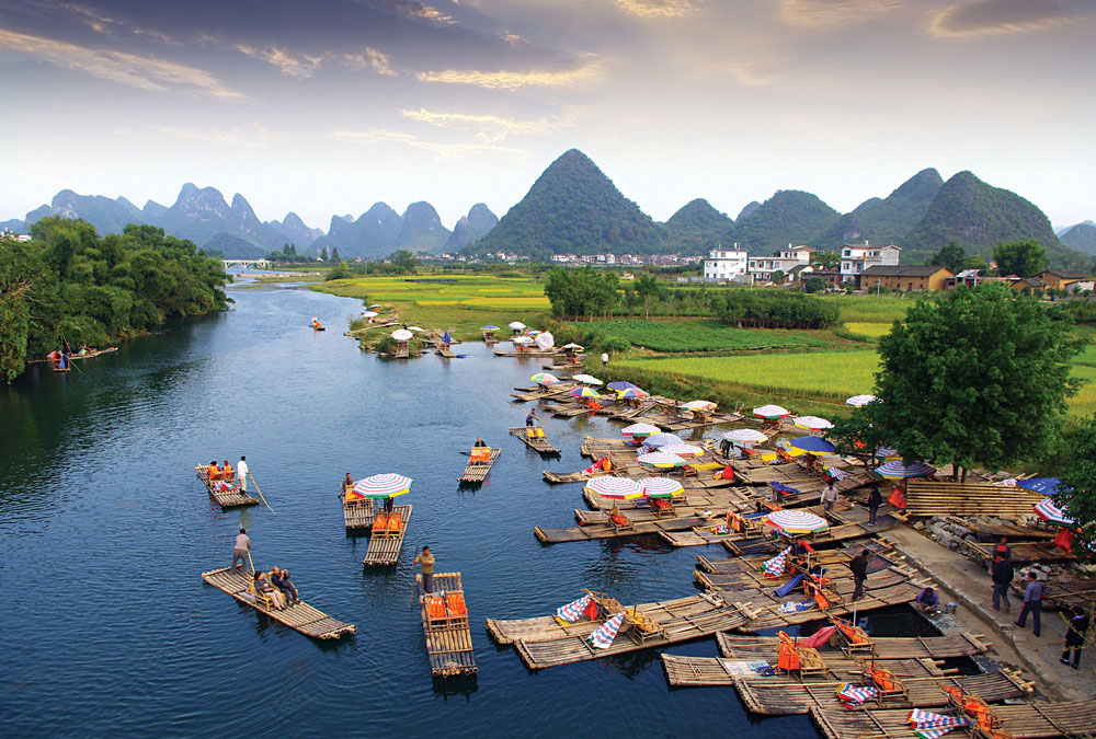 Guilin and Li River Landscape, China