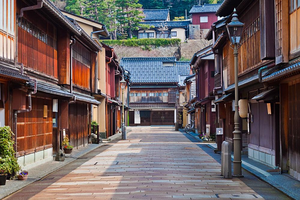 Higashi Chayagai Geisha District in Kanazawa, Japan
