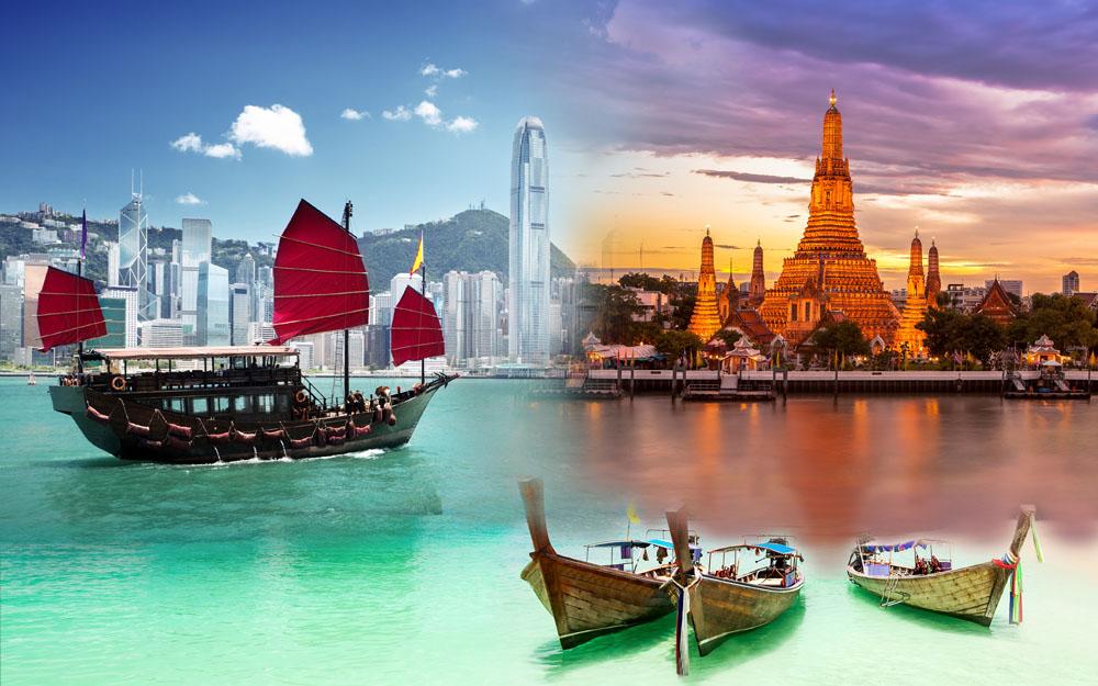 Hong Kong and Thailand Collage