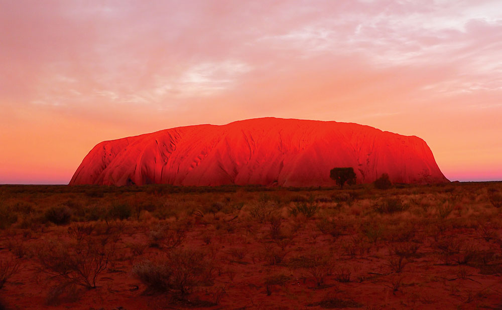 Incredible Colours of Ayers Rock, Uluru, Northern Territory, Australia