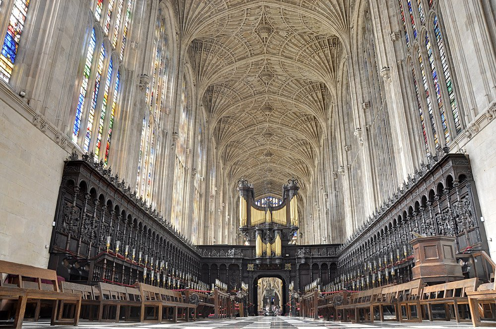 Interior of King's College Chapel, Cambridge, England, UK